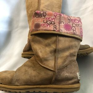 UGG SN 3387 Signature Lo Pro Button boots size 7